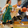 1-19-17<br /> Tri Central vs Eastern girls basketball<br /> TC's Kinsey Leininger dribbles to the basket.<br /> Kelly Lafferty Gerber | Kokomo Tribune