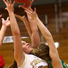 1-19-17<br /> Tri Central vs Eastern girls basketball<br /> TC's Jaide Cassity reaches up for a rebound.<br /> Kelly Lafferty Gerber | Kokomo Tribune
