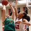 1-7-17<br /> Eastern vs Taylor girls basketball<br /> Eastern's Hailey Holliday shoots.<br /> Kelly Lafferty Gerber | Kokomo Tribune