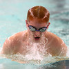 1-10-17<br /> Kokomo swimming<br /> Alex Ward in the 200 Yard Medley Relay.<br /> Kelly Lafferty Gerber | Kokomo Tribune
