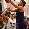 1-20-17<br /> Cass vs Northwestern boys basketball<br /> NW's Noah Dowden shoots.<br /> Kelly Lafferty Gerber | Kokomo Tribune