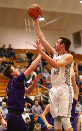 1-20-17<br /> Cass vs Northwestern boys basketball<br /> LC's Kace Kitchel shoots.<br /> Kelly Lafferty Gerber | Kokomo Tribune