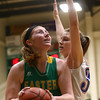 1-31-17<br /> Eastern vs Elwood girls basketball<br /> Eastern's Hailey Holliday looks to the basket.<br /> Kelly Lafferty Gerber | Kokomo Tribune