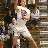 1-3-17<br /> Northwestern vs Central Catholic boys basketball<br /> NW's Jay Pike passes the ball before going out of bounds.<br /> Kelly Lafferty Gerber | Kokomo Tribune