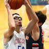 1-13-17<br /> Kokomo vs Harrison boys basketball<br /> Kokomo's Nate Hemmerich shoots.<br /> Kelly Lafferty Gerber | Kokomo Tribune