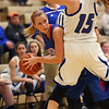 1-17-17<br /> Tipton vs Kokomo girls basketball<br /> Kokomo's Kylee Lauderbaugh looks for a pass.<br /> Kelly Lafferty Gerber | Kokomo Tribune