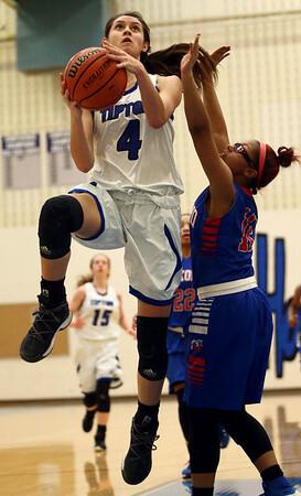 1-17-17<br /> Tipton vs Kokomo girls basketball<br /> Tipton's Cassidy Crawford goes for the basket.<br /> Kelly Lafferty Gerber   Kokomo Tribune