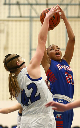 1-17-17<br /> Tipton vs Kokomo girls basketball<br /> Kokomo's Jayda Andrews goes for a shot.<br /> Kelly Lafferty Gerber | Kokomo Tribune