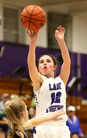 1-11-17<br /> Northwestern vs Oak Hill girls basketball<br /> NW's Brianna Hahn shoots.<br /> Kelly Lafferty Gerber   Kokomo Tribune
