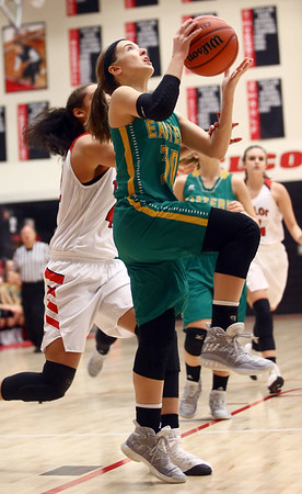 1-7-17<br /> Eastern vs Taylor girls basketball<br /> Eastern's McKenzie Cooper shoots.<br /> Kelly Lafferty Gerber   Kokomo Tribune