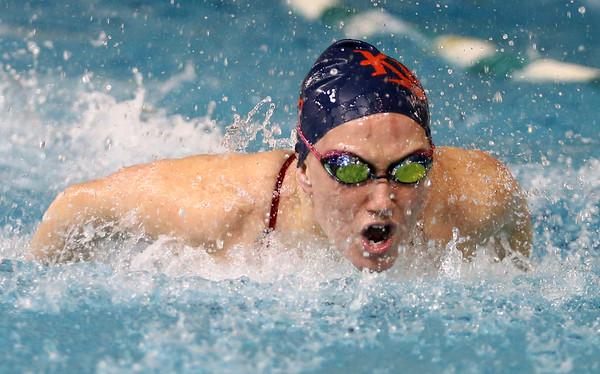 1-5-17<br /> Eastern vs Cass swimming<br /> Cass' Mari Karmel in the 200 Y IM<br /> Kelly Lafferty Gerber | Kokomo Tribune