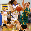 1-19-17<br /> Tri Central vs Eastern girls basketball<br /> TC's Sarah Quesada goes to the basket.<br /> Kelly Lafferty Gerber | Kokomo Tribune