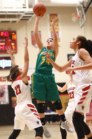1-7-17<br /> Eastern vs Taylor girls basketball<br /> Eastern's Jeanie Crabtree shoots.<br /> Kelly Lafferty Gerber | Kokomo Tribune
