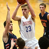 1-13-17<br /> Kokomo vs Harrison boys basketball<br /> Kokomo's Anthony Barnard shoots.<br /> Kelly Lafferty Gerber | Kokomo Tribune