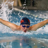 1-5-17<br /> Eastern vs Cass swimming<br /> Cass' Drew Cornell in the 200 Yard IM<br /> Kelly Lafferty Gerber | Kokomo Tribune