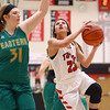 1-7-17<br /> Eastern vs Taylor girls basketball<br /> Taylor's Brooklynn Campbell puts up a shot.<br /> Kelly Lafferty Gerber | Kokomo Tribune