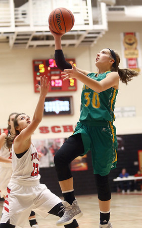 1-7-17<br /> Eastern vs Taylor girls basketball<br /> Eastern's McKenzie Cooper shoots.<br /> Kelly Lafferty Gerber | Kokomo Tribune