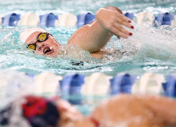 1-10-17<br /> Kokomo swimming<br /> Addison Reckard in the girls 200 Y Freestyle.<br /> Kelly Lafferty Gerber | Kokomo Tribune