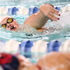 1-10-17<br /> Kokomo swimming<br /> Addison Reckard in the girls 200 Y Freestyle.<br /> Kelly Lafferty Gerber | Kokomo Tribune