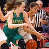 1-7-17<br /> Eastern vs Taylor girls basketball<br /> Eastern's Kaylee Weeks and Taylor's Alison Pemberton go after a loose ball.<br /> Kelly Lafferty Gerber | Kokomo Tribune