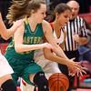 1-7-17<br /> Eastern vs Taylor girls basketball<br /> Eastern's Kaylee Weeks and Taylor's Alison Pemberton go after a loose ball.<br /> Kelly Lafferty Gerber | Kokomo Tribune