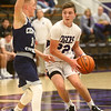 1-3-17<br /> Northwestern vs Central Catholic boys basketball<br /> NW's Eli Dubbels looks down the court for a pass.<br /> Kelly Lafferty Gerber | Kokomo Tribune