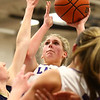 1-11-17<br /> Northwestern vs Oak Hill girls basketball<br /> NW's Taylor Boruff shoots.<br /> Kelly Lafferty Gerber | Kokomo Tribune