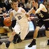 1-27-17<br /> Western vs Peru boys basketball<br /> Western's Josh Beeler dribbles down the court.<br /> Kelly Lafferty Gerber | Kokomo Tribune