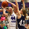1-11-17<br /> Northwestern vs Oak Hill girls basketball<br /> NW's Kendall Bostic shoots.<br /> Kelly Lafferty Gerber | Kokomo Tribune