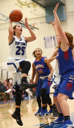 1-17-17<br /> Tipton vs Kokomo girls basketball<br /> Tipton's Rachel Ressler shoots.<br /> Kelly Lafferty Gerber | Kokomo Tribune