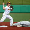 7-27-17<br /> Jackrabbits vs Paints<br /> Braeden Brown gets Paints' #7 out at second.<br /> Kelly Lafferty Gerber | Kokomo Tribune