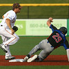 6-28-17<br /> Jackrabbits vs Kings<br /> Andrew Curran steps on second and gets Kings' 29 out.<br /> Kelly Lafferty Gerber | Kokomo Tribune