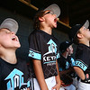 6-28-17<br /> Keystone vs Top of the Line Howard County Rookie tournament championship<br /> Keystone celebrates in the dugout after their win over Top of the Line.<br /> Kelly Lafferty Gerber | Kokomo Tribune