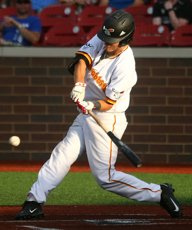 6-28-17<br /> Jackrabbits vs Kings<br /> #15 Jarrod Watkins bats.<br /> Kelly Lafferty Gerber | Kokomo Tribune