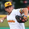 6-13-17<br /> Jackrabbits vs Aviators<br /> Ryne Underwood pitches.<br /> Kelly Lafferty Gerber | Kokomo Tribune