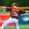 Jackrabbits hosting the Butler BlueSox with early pitching by Tucker Waddups from Logansport, Indiana, on June 25, 2017. <br /> Tim Bath | Kokomo Tribune