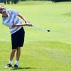 Sectional Golf at Rock Hollow on June 5, 2017. Peru's Taylor Garner hitting onto the 7th green.<br /> Tim Bath | Kokomo Tribune