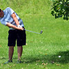 Sectional Golf at Rock Hollow on June 5, 2017. Peru's Corbin Robison hitting out of the rouph on the 10th.<br /> Tim Bath | Kokomo Tribune