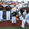 6-6-17<br /> Jackrabbits vs Aviators<br /> Little Jax and big Jax enter the field together at the start of Tuesday's game.<br /> Kelly Lafferty Gerber | Kokomo Tribune