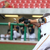 6-13-17<br /> Jackrabbits vs Aviators<br /> Austin Petravicius loses the bat as he swings. The bat flew into the crowd.<br /> Kelly Lafferty Gerber | Kokomo Tribune