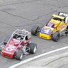 Don Knight | The Herald Bulletin<br /> Kyle Hamilton leads the Little 500 followed by Kody Swanson early in the race on Saturday.