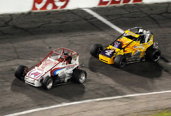 Don Knight   The Herald Bulletin<br /> Little 500 at the Anderson Speedway on Saturday.