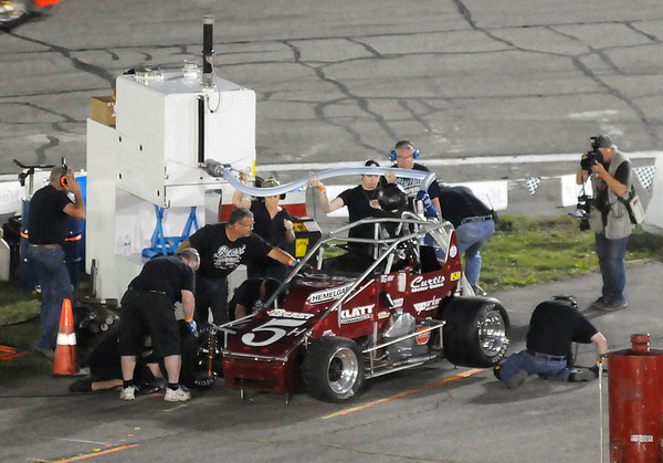 Don Knight | The Herald Bulletin<br /> Little 500 at the Anderson Speedway on Saturday.