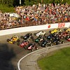 Don Knight | The Herald Bulletin<br /> Start of the  Little 500 on Saturday in front of a sellout crowd.