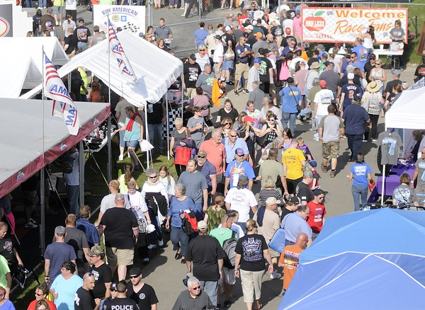 Don Knight | The Herald Bulletin<br /> The Anderson Speedway was packed with fans for the  Little 500 on Saturday.