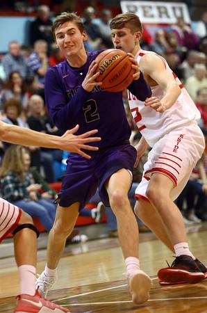 2-28-17<br /> Northwestern vs West Lafayette boys basketball<br /> Collin Hodson goes to the basket.<br /> Kelly Lafferty Gerber | Kokomo Tribune