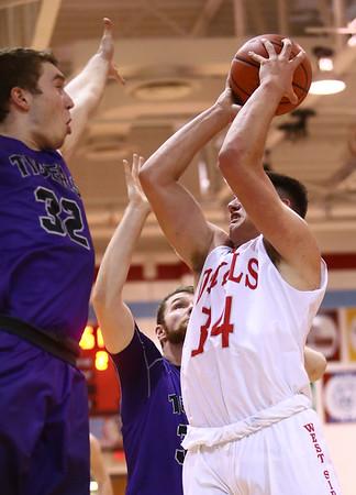 2-28-17<br /> Northwestern vs West Lafayette boys basketball<br /> WL's George Karlaftis shoots.<br /> Kelly Lafferty Gerber | Kokomo Tribune