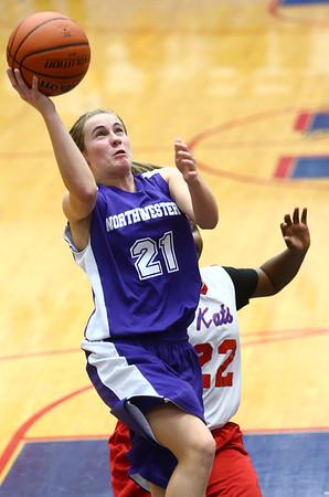 3-9-17<br /> 8th grade girls basketball<br /> NW's Ellie Boyer shoots.<br /> Kelly Lafferty Gerber   Kokomo Tribune