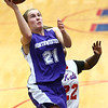 3-9-17<br /> 8th grade girls basketball<br /> NW's Ellie Boyer shoots.<br /> Kelly Lafferty Gerber | Kokomo Tribune