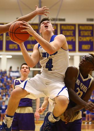 3-11-17<br /> Tipton vs New Haven boys basketball regional semifinal<br /> Tipton's Lukas Swan shoots.<br /> Kelly Lafferty Gerber   Kokomo Tribune